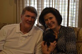Black Puppy with New Owners